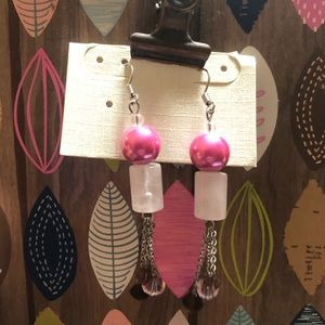 Jewelry - 💞Pink Drop Earrings Absolutely Gorgeous NWT🌸